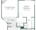Villa Siena - 680 and 696 square foot units are available in ground, second and third floor locations
