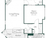Villa Tuscany - 705 and 720 square foot units are available in ground, second and third floor locations.
